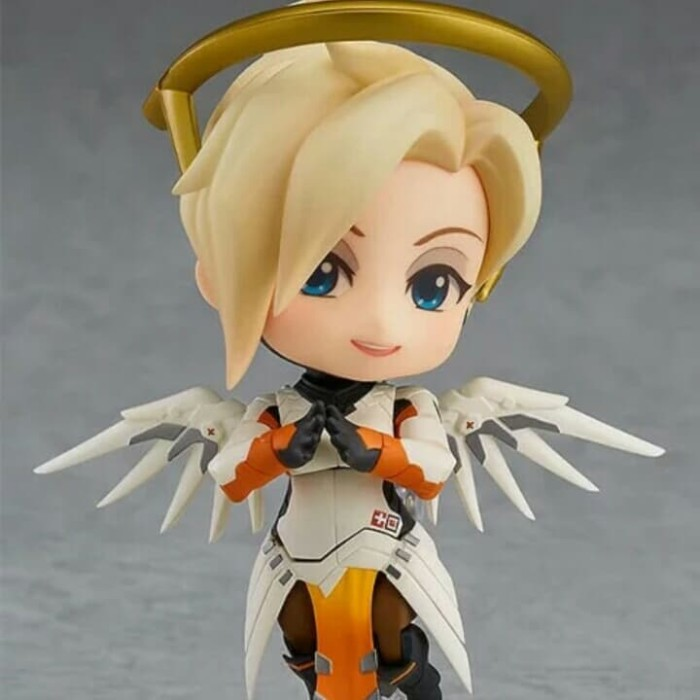 Overwatch Mercy Classic Skin Edition Nendoroid Action Figure Toys Gift In Box