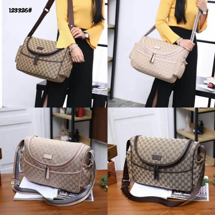 adb9f655d05999 Jual HIgh Premium Gucci GG Canvas Diaper Bag 123326 - Apricot Coffee ...