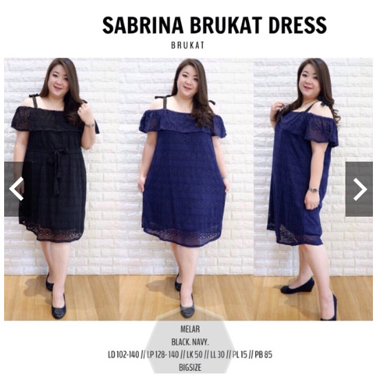 Jual Dress Sabrina Jumbo Xxxl 4l Melar Dress Pesta Jumbo Dress Hitam