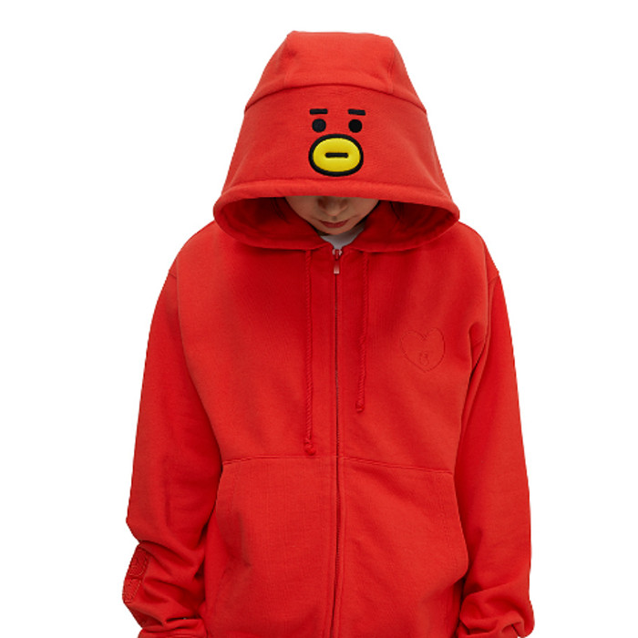 Jual Bts Merchandise Bt21 Official Costume Hoodie Zip Up Hoody