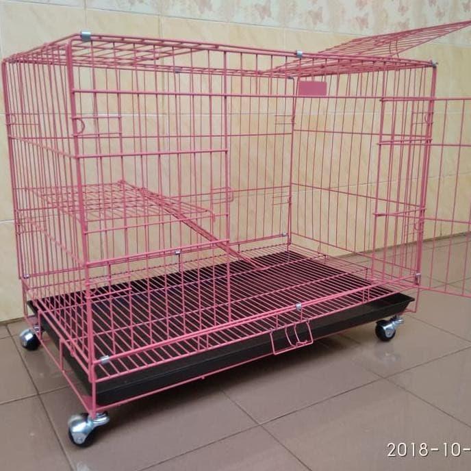 Foto Produk sangkar kandang kucing kelinci anjing jumbo pakai roda dari bayu shop9