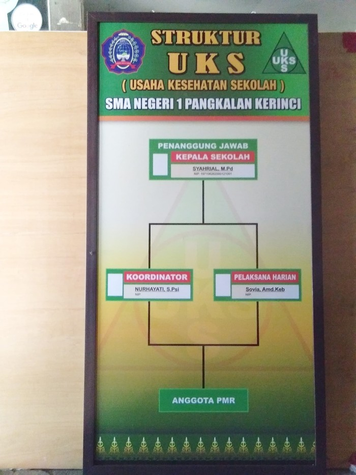 jual papan struktur organisasi uks kab pelalawan bermuda i Bagan Organisasi papan struktur organisasi uks
