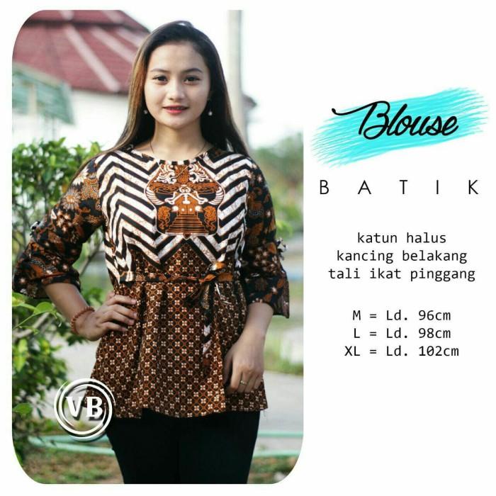 Jual Baju Atasan Blouse Eksklusif Wanita Kantoran Remaja Terbaru Vbn24 Kota Pekalongan Batik Al Ghaniy Tokopedia