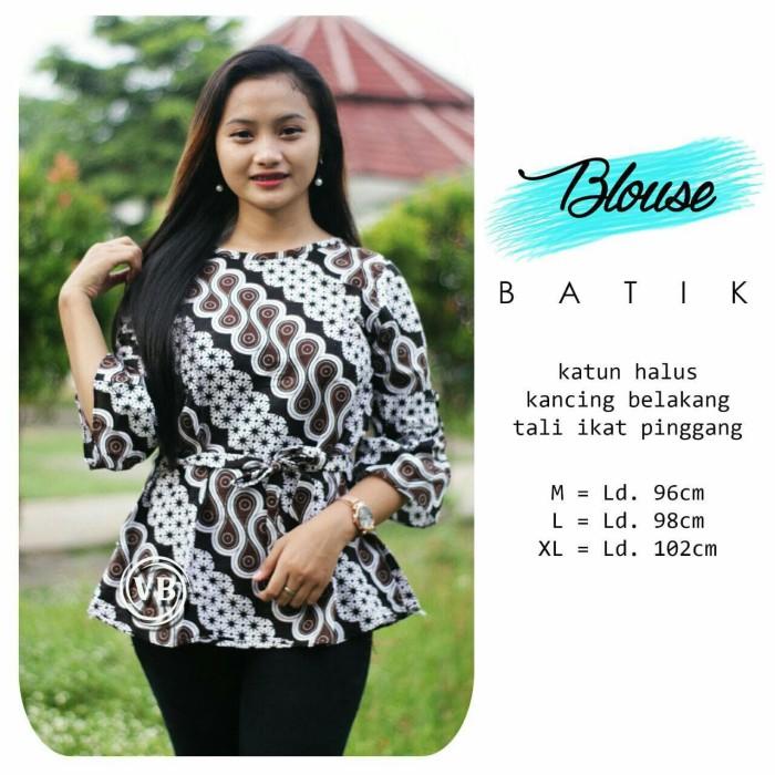 Jual Seragam Baju Atasan Blus Batik Wanita Remaja Batik Kekinian Vbn18 Kota Pekalongan Batik Al Ghaniy Tokopedia