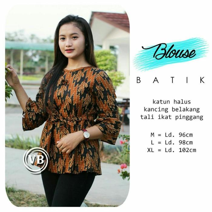 Jual Atasan Blouse Batik Remaja Kantoran Blouse Wanita Kekinian Vbn35 Kota Pekalongan Batik Al Ghaniy Tokopedia