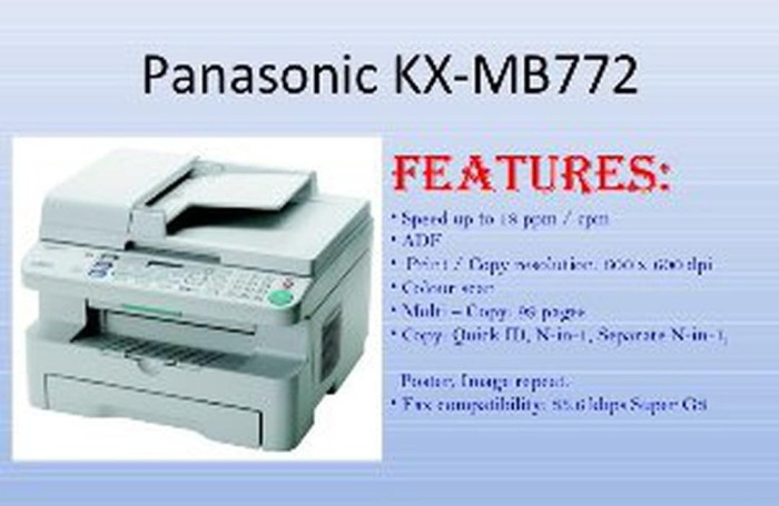 PANASONIC MB772 WINDOWS VISTA DRIVER