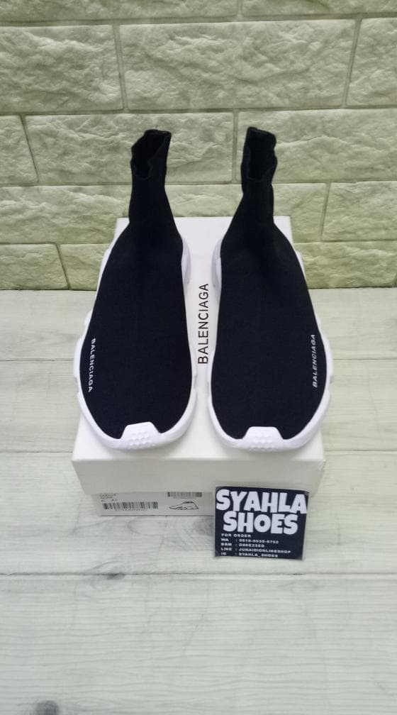 Jual Sepatu Balenciaga Speed Trainer Black White Quality Perfeck