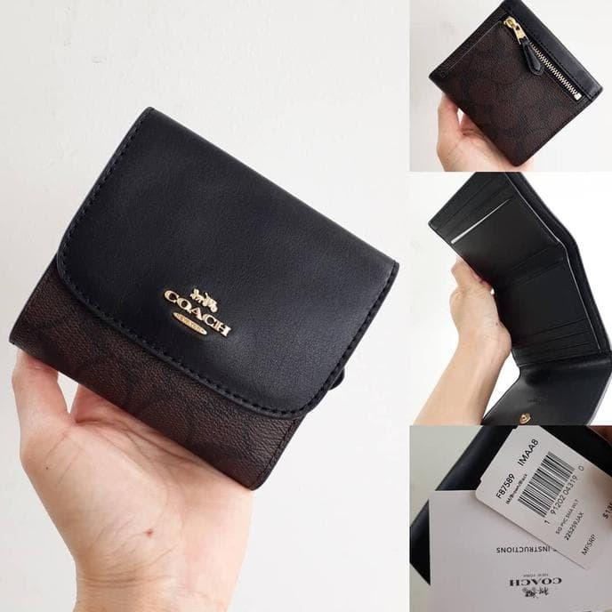 san francisco 57e3a 8829b Jual Coach F87589 Signature Pvc Small Wallet (Brown-Black) - DKI Jakarta -  xavier academy | Tokopedia