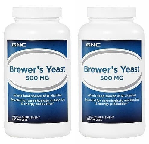 GNC Brewers Yeast 500 500 Tablets