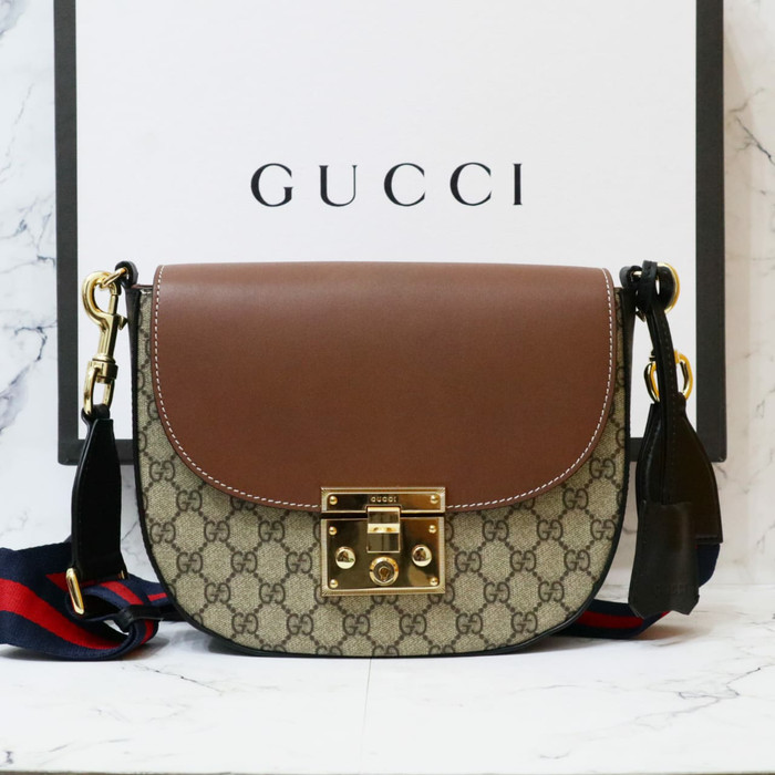 375477ce9aad Jual PROMO Gucci padlock sling bag original leather 25cm ...