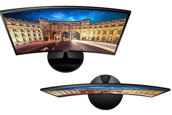 Monitor LED Samsung Curved 24in F390 HDMI + VGA + Audio