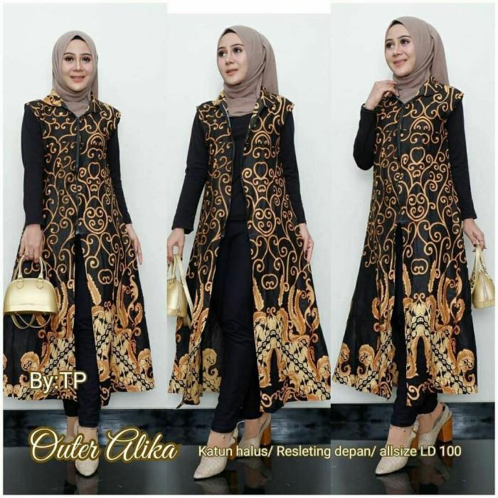 Model Baju Batik Sutra Halus Terbaru