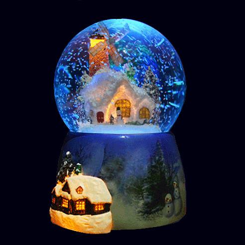 harga Kotak musik salju otomatis + kincir angin - winter snow music box Tokopedia.com