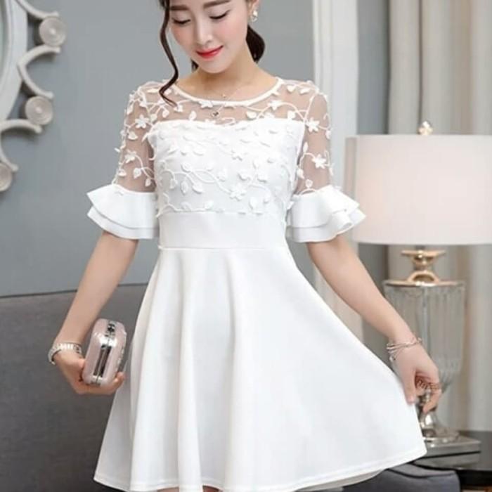 Jual Baju Gaun Pesta Putih Hitam Kota Medan Debbyshirts