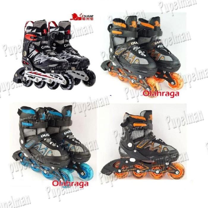 Cougar Mzs835l Sepatu Roda Inline Skate Black Silver - Daftar Harga ... 45c76af923