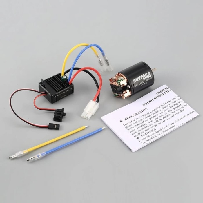 harga Brushed motor 540 27t combo with 60a esc 5v 2a for rc racing offroad Tokopedia.com