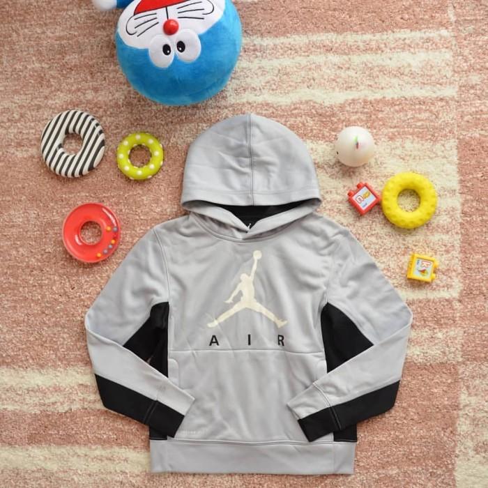 32865d3047a907 Jual ORIGINAL Nike Air Jordan Grey Abu-Abu Hoodie Jaket Anak Kid ...