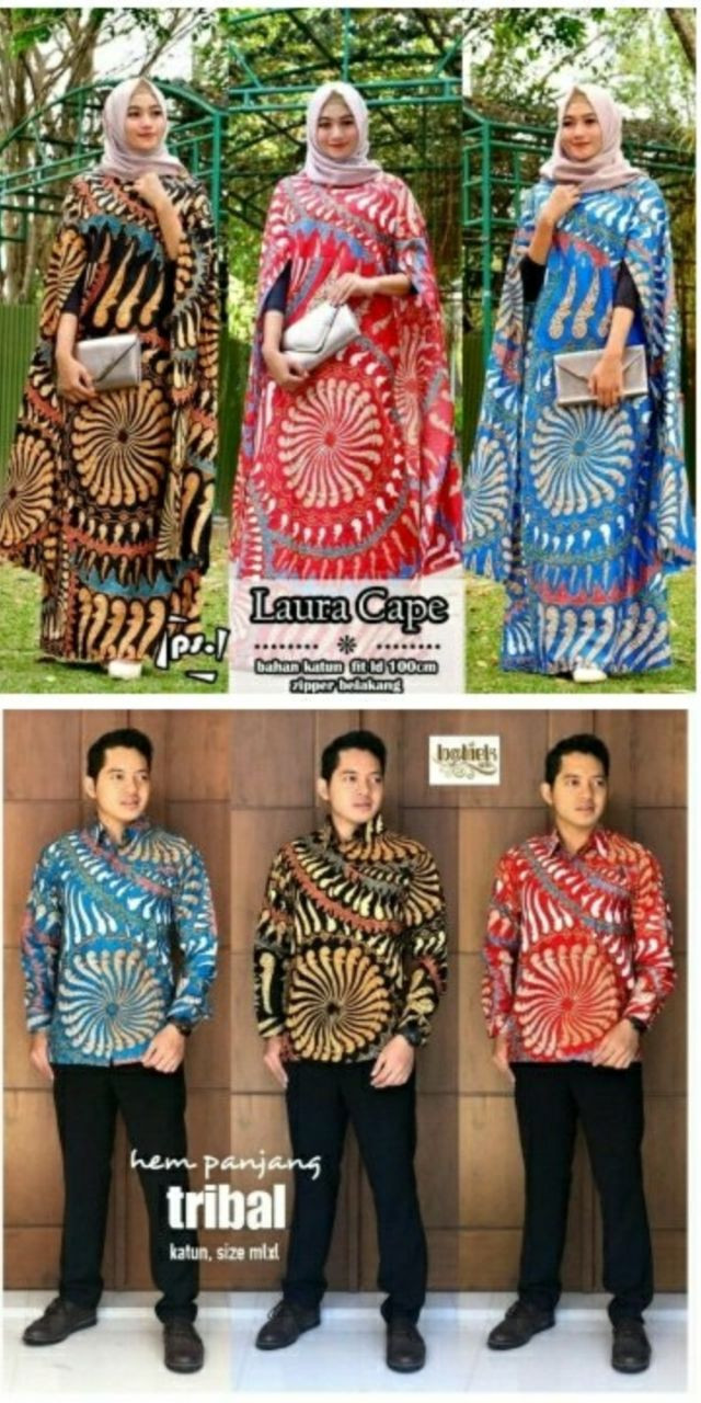 Jual Batik Couple Asli Solo Zara Cape Tribal/Batik Zara Cape Tribal - Kota  Surakarta - Rinastra Store  Tokopedia