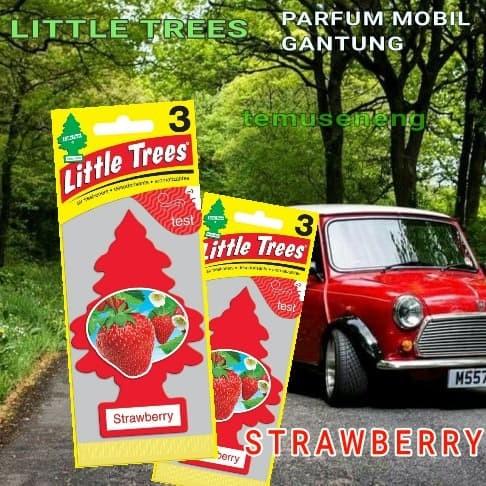 STRAWBERRY LITTLE TREE PARFUM MOBIL GANTUNG CAR FRESHNER PEWANGI AROMA