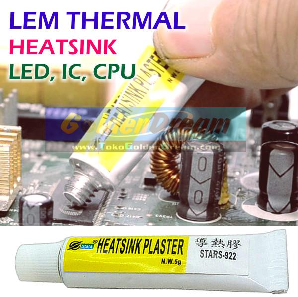 Foto Produk Lem Thermal Glue Plaster Stars 922 Heatsink Adhesive LED CPU Heat Sink dari VISITEK