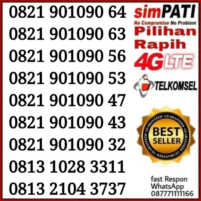 Info Nomor Cantik Telkomsel Simpati Travelbon.com