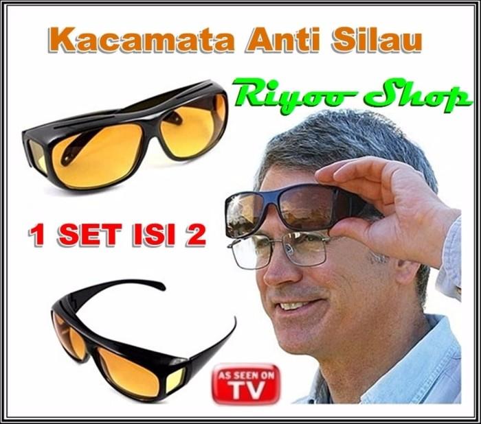 Jual TERBATAS Kacamata Anti Silau Night HD Vision Isi 2 Siang Malam ... 44c508be9c