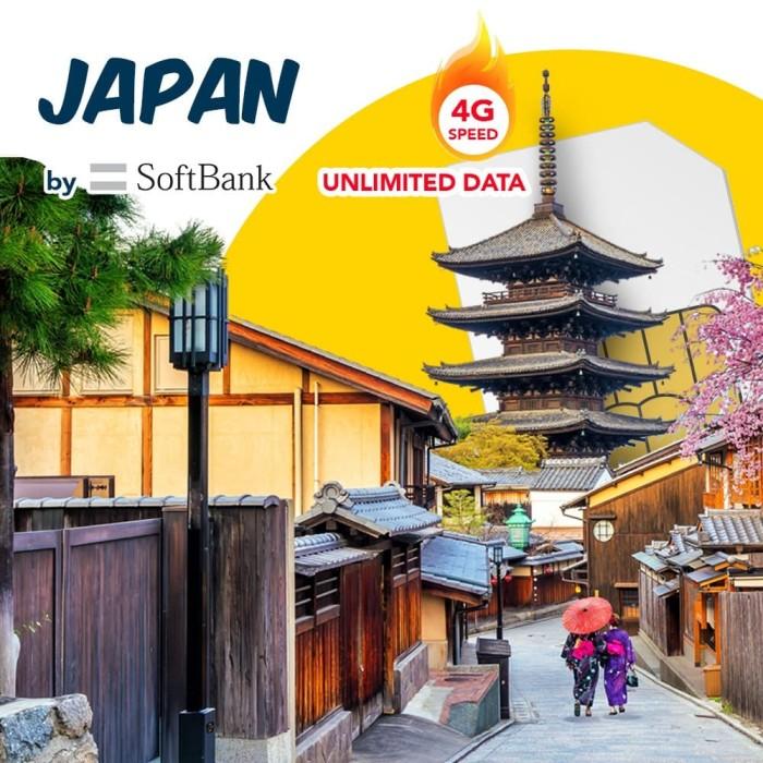 harga Japan 14gb 14 days unlimited softbank sim card japan japan simcard Tokopedia.com