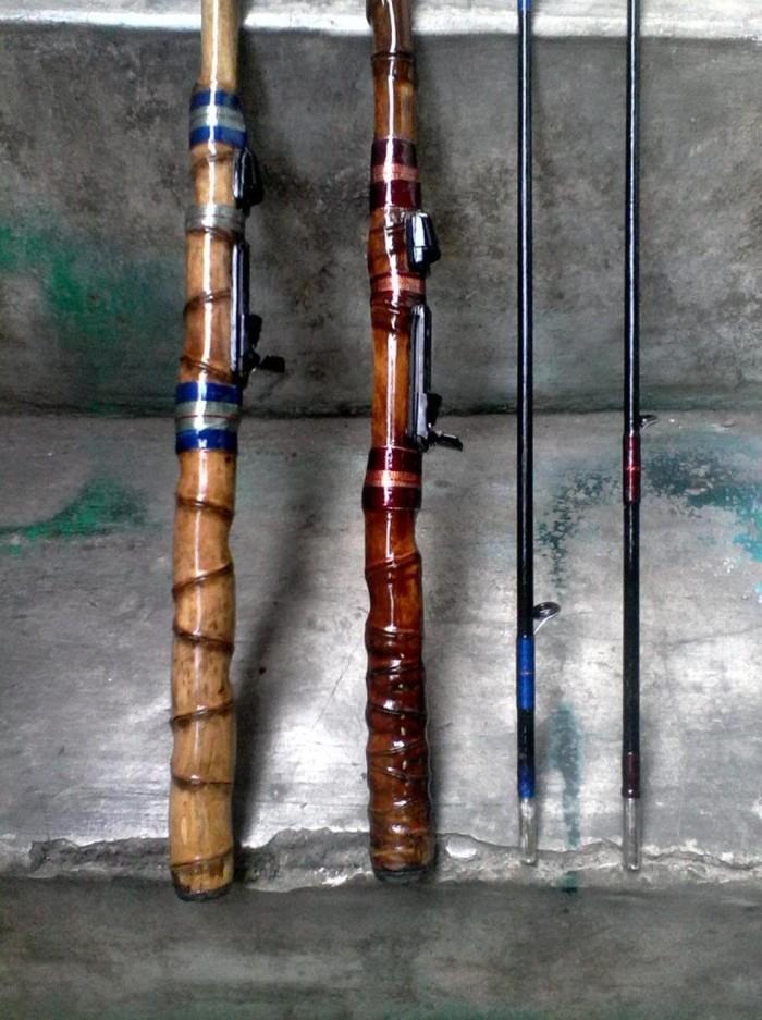 Jual Batang Bawah Joran Pancing. #Bambu Cendani Dgn Rell Seat ...