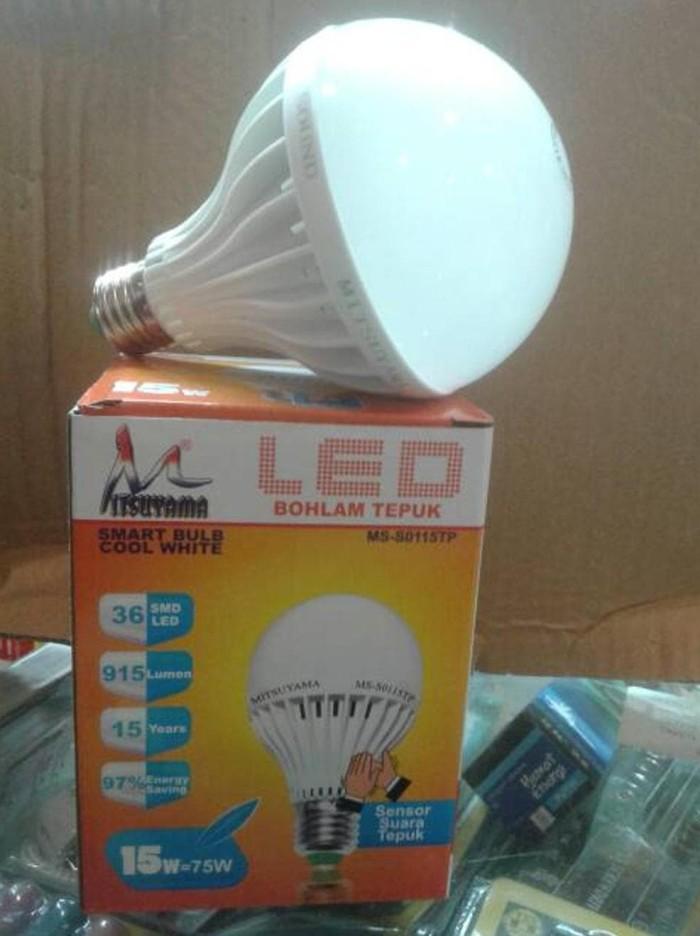 Foto Produk Lampu Led Bohlam Sensor Suara / Tepuk 15 Watt / Sensor Tepuk Mitsuyama dari MITSUKO