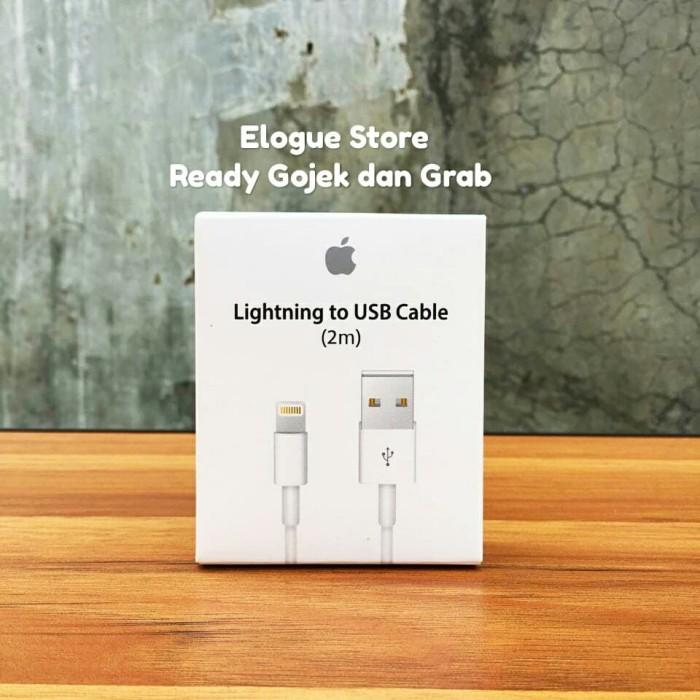 Foto Produk Ori Kabel Data iphone ipad ipod Lightning 2 Meter 5s 6s 7 8 Xs Xr Max dari Elogue Store