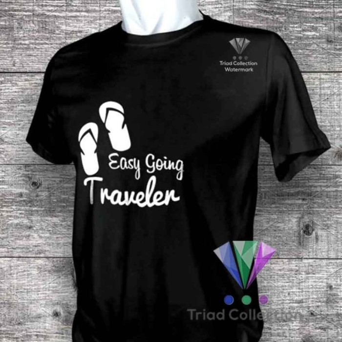 Foto Produk Kaos Pendaki Gunung Mountain Easy Going Traveller Baju Hiking -512 - Putih, S dari Triad Collection