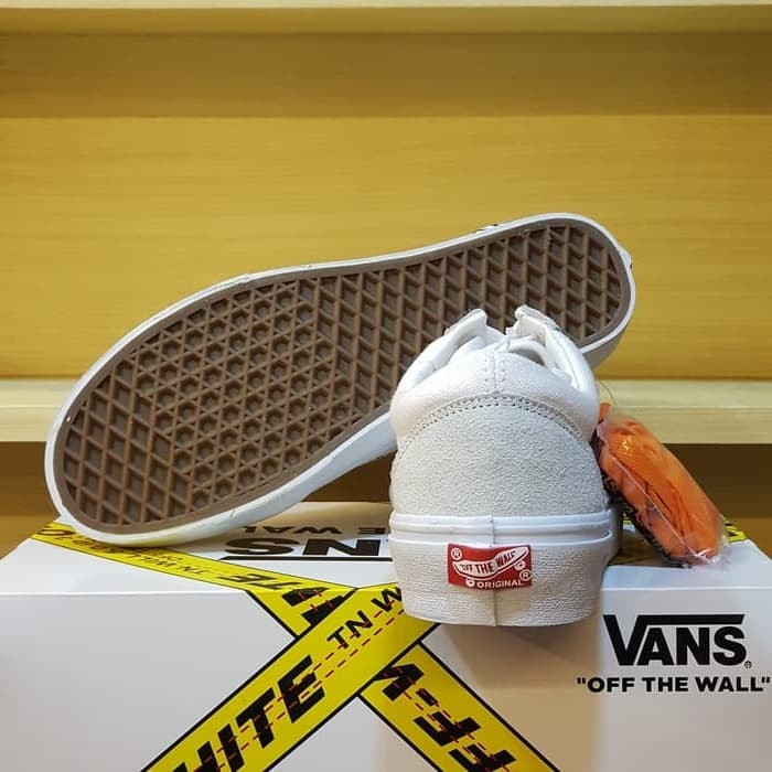Jual Sepatu Vans Old Skool x Off White Black   White - Vans Collabs ... 8e53b3cfb