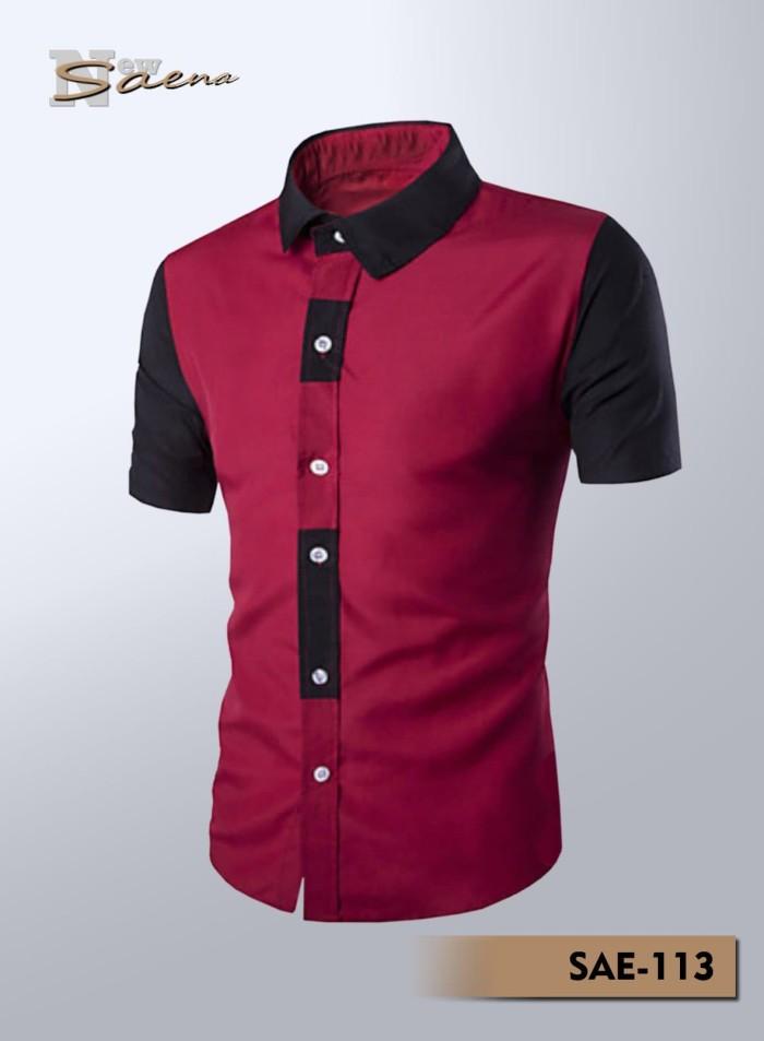 Jual Baju Kemeja pria lengan pendek variasi warna - Putih adb713094c