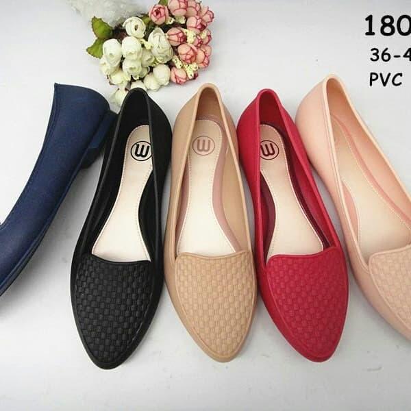 c73032e40 Jual jelly shoes flat shoes sepatu kerja hitam promo import - Navy ...