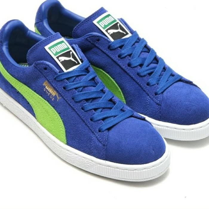 Jual (CUCIGUDANG) Sepatu Puma Suede Classic + Blue Green Original ... 6e80539162