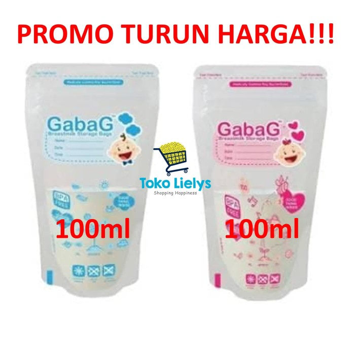 Gabag Kantong Asi 100ml Breastmilk Bag Milk Storage - Blanja.com