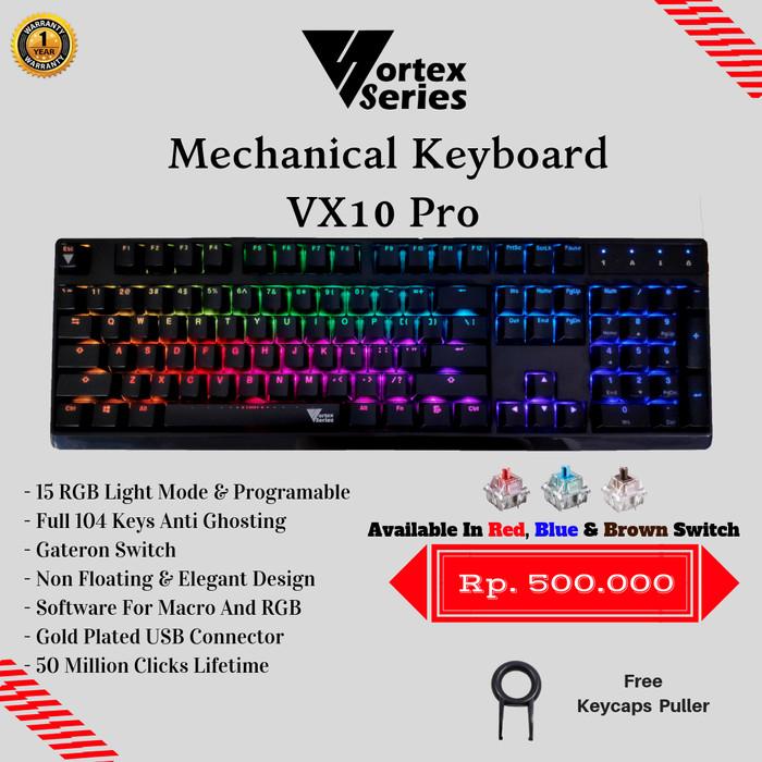 Foto Produk VortexSeries Mechanical Keyboard VX10 Pro - Biru dari VortexSeries