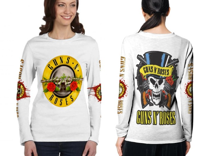 T Shirt Wanita Lengan Panjang New Roblox 3d Fullprint Sublimation Jual Kaos Lengan Panjang Cewek Guns N Roses 3d Fullprint Sublimation White Kab Bandung Danz Shop Bandung Tokopedia