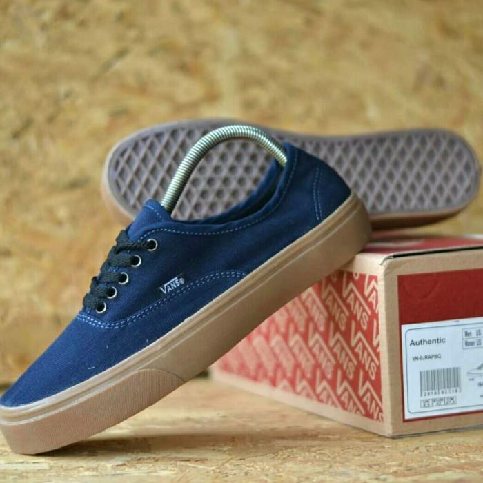 64ecb1038c sepatu vans authentic sol gum waffle icc dt vans pria cowok size 39-43 -  Navy