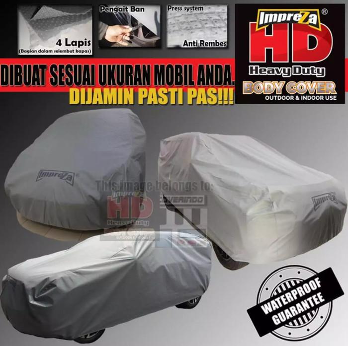 Body Cover Impreza HD 100 %Waterproof Suzuki All New Ertiga - 4 Lapis - Abu- abu Muda