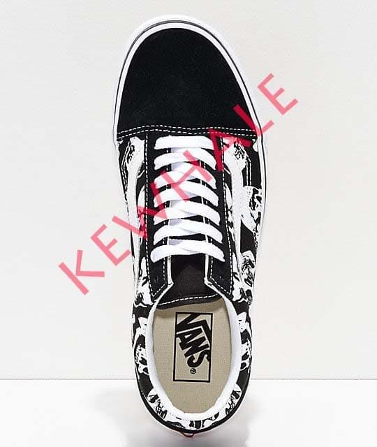 9e4d3d729f0 Jual Vans Old Skool Skulls Black   White Skate Shoes - Kota ...
