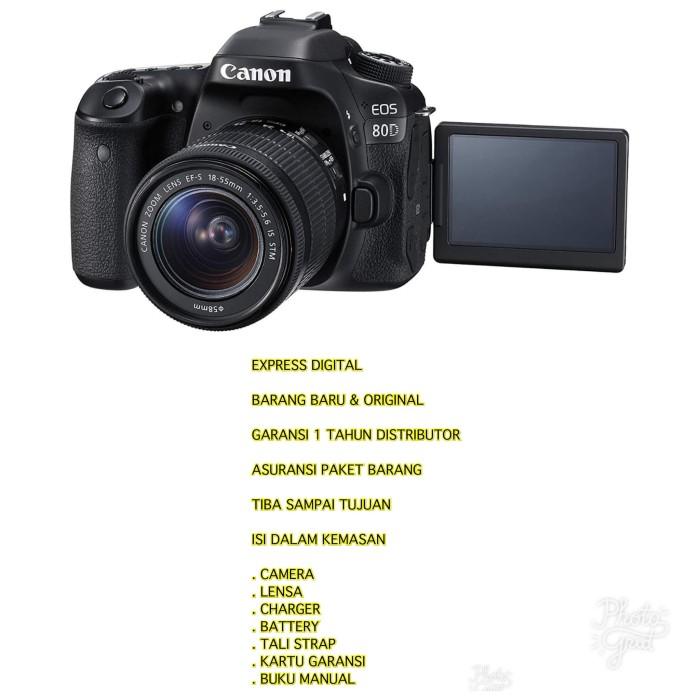 harga Canon eos 80d kit 18-55mm is stm Tokopedia.com