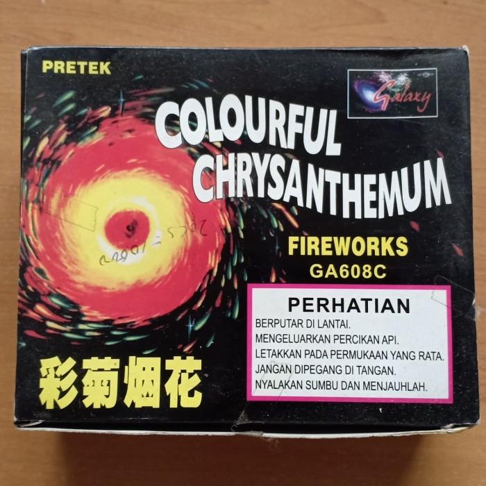Foto Produk Kembang api gangsing roda gila colourful chrysanthemum dari Richest Shop