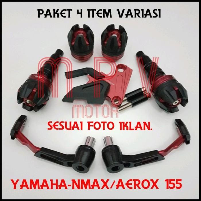 READY PAKET PROGUARD STANG ROBOT CNC YAMAHA-NMAX-AEROX 4 ITEM VARIASI