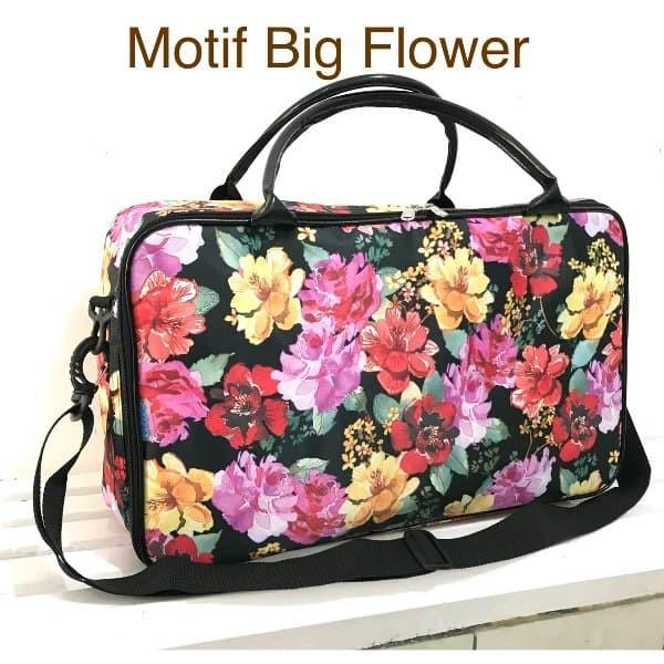 tas Koper dewasa Motif Flowers bahan Longchamp