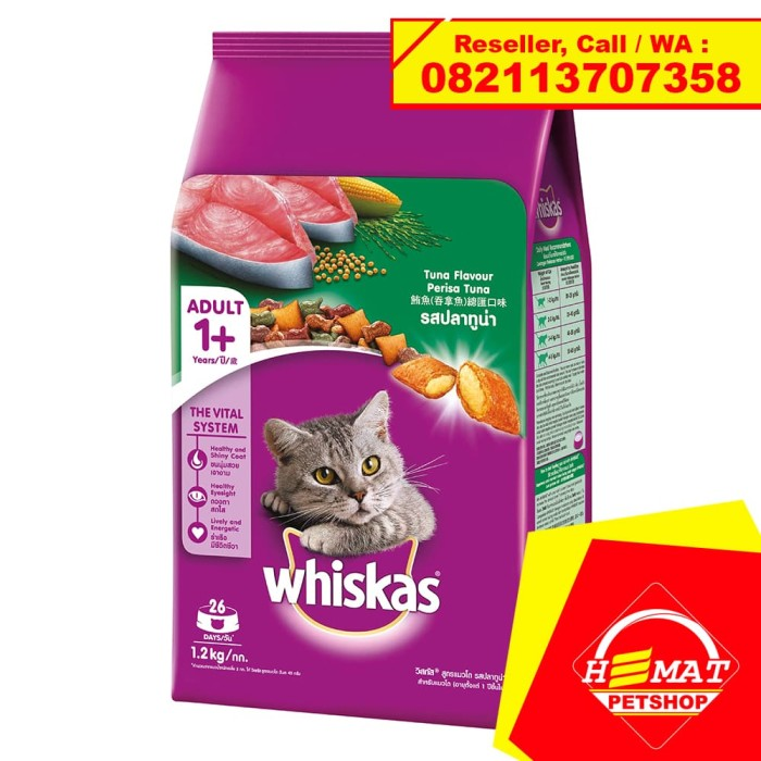 Makanan kucing whiskas tuna 1.2 kg / whiskas fresh pack
