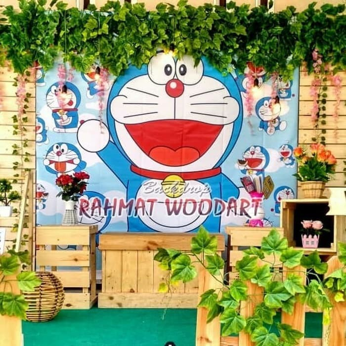 Jual Backdrop Photobooth Backdrop Lamaran Backdrop Wedding Doraemon Kota Bandung Market Alexa Tokopedia