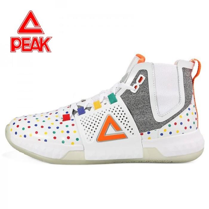 PEAK Sepatu Basket Dwight Howard III High Ori 100% - E74003A - WHITE a3f3eed11d