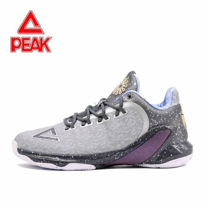 harga Sepatu basket peak tony parker v original 100% - e73323a - abu-abu muda 43 Tokopedia.com