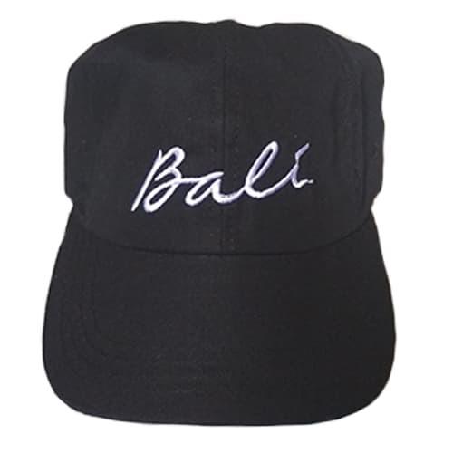 Topi pria khas bali dengan tulisan Bali desain simple dan elegan - Hitam